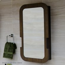 """Wall mounted medicine cabinet with wood frame, left hinged mirror door, three adjustable glass shelves, 20""""W X 5""""D x 36""""H"""