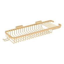 """Wire Basket 17-3/8"""", Rectangular Deep & Shallow, With Hook - PVD Polished Brass"""