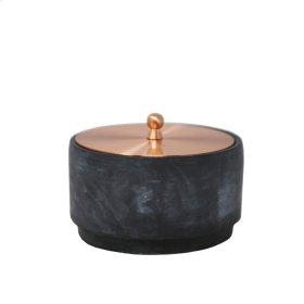 """Round Cement/copper Jar 6"""""""
