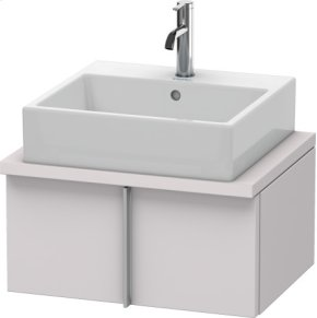 Vero Vanity Unit For Console Compact, White Lilac Satin Matt Lacquer