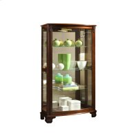 Gallery Style 3 Shelf Curio Cabinet in Maple Brown Product Image