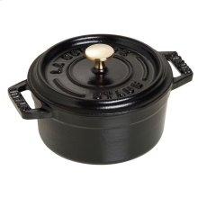 Staub Cast Iron 3.94-inch round Mini Cocotte, Black