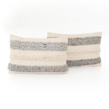 "16x24"" Size Textured Stripe Pillow, Set of 2"