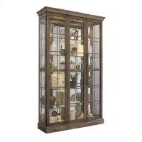 Window Pane Door Display Cabinet with Metal Clad Front Product Image