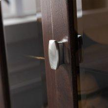 Chocolate Oak Entryway Curio Cabinet with Interior Light #10000-CH