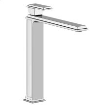 """Tall single lever washbasin mixer without pop-up assembly Spout projection 8-1/2"""" Height 11-3/4"""" Drain not included - See DRAINS section Max flow rate 1"""