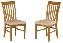 Mission Dining Chairs Set of 2 with Oatmeal Cushion in Caramel Latte