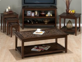 Baroque Brown Nesting Tables With Mosaic Tile Inlay