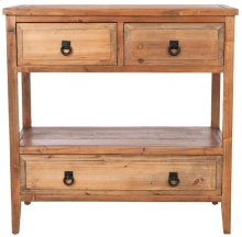 Branson 3 Drawer Sideboard - Brown Pine
