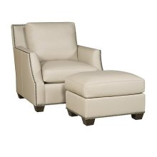 Santiago Leather Chair, Santiago Leather Ottoman