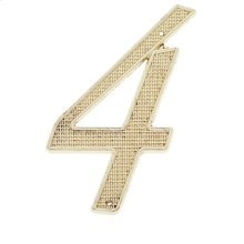 """Polished Brass 4"""" House Number """"4"""""""