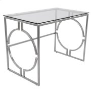 Dynasty Office Desk - Clear / Stainless Product Image