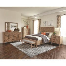 Auburn Rustic Eastern King Five-piece Set