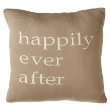 """""""Happily Ever After"""" Pillow."""