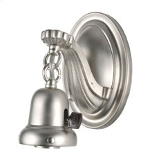 "7""H 1 LT BRUSHED NICKEL WALL SCONCE"