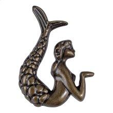 Mermaid Knob Left 2 1/2 Inch - Burnished Bronze