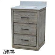 "Richmond 2 Drawer 24"" Vanity Sink Product Image"