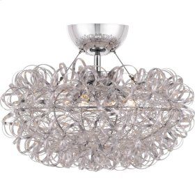 Pageant Semi-Flush Mount in Polished Chrome