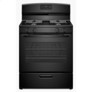 30-inch Gas Range with Easy Touch Electronic Controls - black Product Image