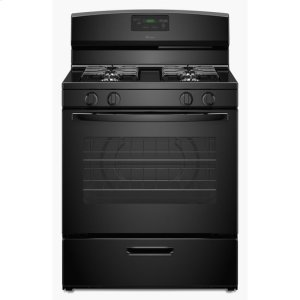 Amana30-inch Gas Range with Easy Touch Electronic Controls - black