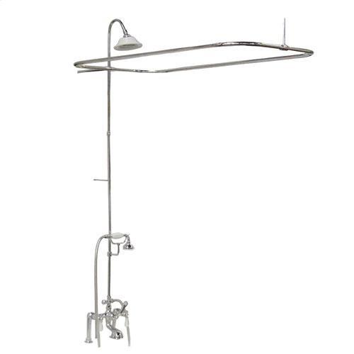 Tub/Shower Converto Unit - Elephant Spout, Shower Ring, Riser, Showerhead - Lever / Polished Chrome