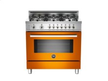 Orange 36 6-Burner, Electric Self-Clean Oven
