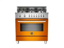 Orange 36 6-Burner, Electric Self-Clean Oven