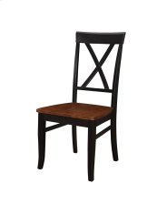 Emerald Home Belmar X Back Side Chair W/wood Seat Antique Cherry & Rubbed Black D502-22