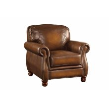 Montbrook Traditional Hand Rubbed Brown Chair