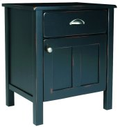 Yukon 1 Drawer Night Stand, with Left or Right Hinge