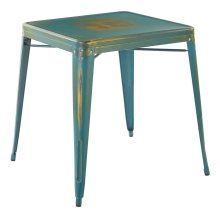 Bristow Antique Metal Table In Antique Turquoise Finish (kd)