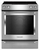 30-Inch 5-Element Electric Convection Slide-In Range with Baking Drawer - Stainless Steel Product Image