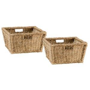 Hillsdale FurnitureTuscan Retreat(r) Blanket Bench Baskets (2) - Seagrass