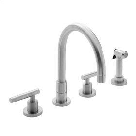 Uncoated Polished Brass - Living Kitchen Faucet with Side Spray