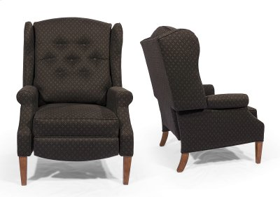 Recliner with Tapered Oak Leg