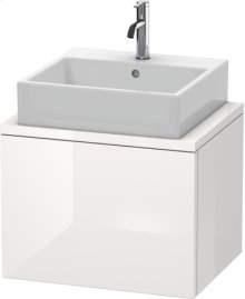Delos Vanity Unit For Console Compact, White High Gloss (decor)