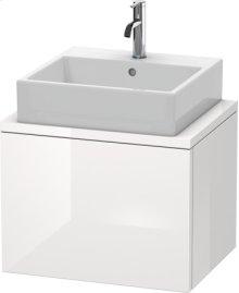Delos Vanity Unit For Console Compact, White High Gloss (decor)