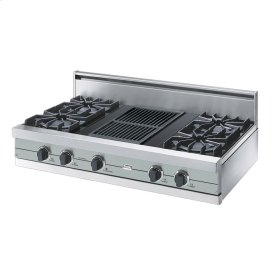 "Sea Glass 42"" Open Burner Rangetop - VGRT (42"" wide, four burners 12"" wide char-grill)"