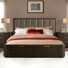 Precision - Queen/king Bed Rails - Umber Finish
