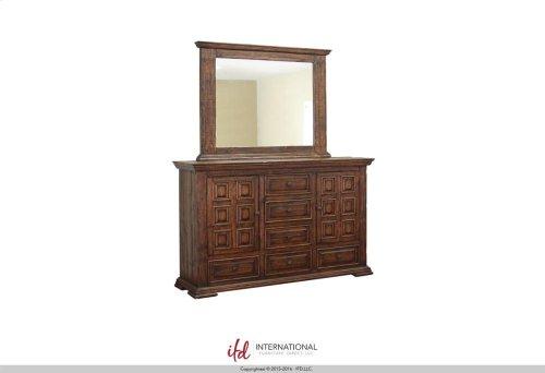 6 Drawer, 2 Doors Dresser