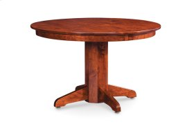 "Shenandoah Single Pedestal Table, Shenandoah Single Pedestal Table, 38"", 1-Leaf"