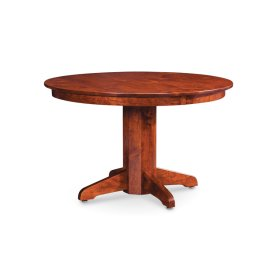"Shenandoah Single Pedestal Table, Shenandoah Single Pedestal Table, 38"", 1-Leaf"