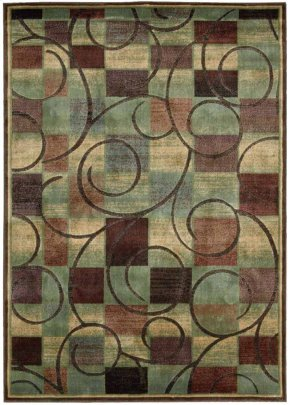 EXPRESSIONS XP01 BRN RECTANGLE RUG 5'3'' x 7'5''