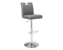 Kalvin Adjustable Barstool - Graphite / Snow