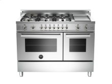 Stainless 48 6-Burner LPG, Gas Double Oven