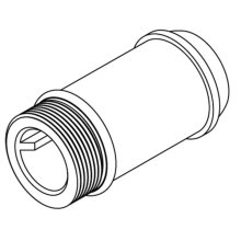 "Commercial 4-1/4"" delany supply extension nipple"