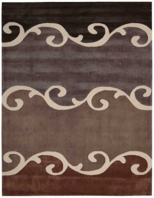 Contour Con17 Mocha Rectangle Rug 5' X 7'6''