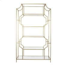 Glass/Metal Etagere