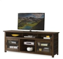 Perspectives 74-inch TV Console Brushed Acacia finish