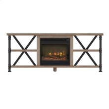 Irondale TV Stand with Electric Fireplace